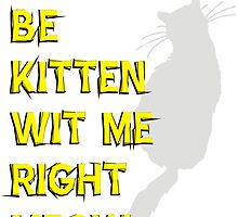 Kan't Be Kitten Wit Right Meow by BUB THE ZOMBIE