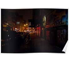 Night - Lower East Side - New York City Poster