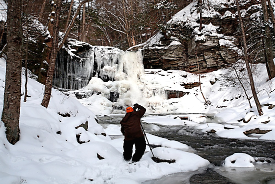 Photographing Sheldon Reynolds In Winter Conditions by Gene Walls
