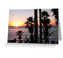 encinitas sunset 2 Greeting Card