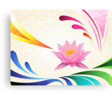 lotus abstractact art Canvas Print
