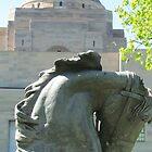 Horses head, War Memorial, Australia by Martina Nicolls