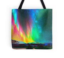 rainbow Aurora Borealis art Tote Bag