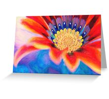 Red flower close up art Greeting Card