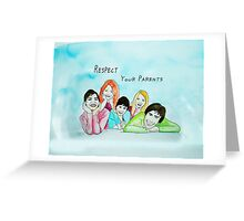 School Poster  respect your parents Greeting Card