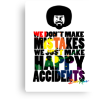"Bob Ross ""No Mistakes"" Canvas Print"