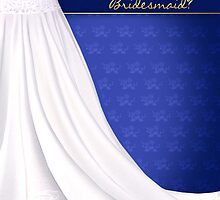 Will You Be My Bridesmaid Greeting Card Blue by Moonlake