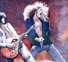 Led Zeppelin Jimi Page and Robert Plant  by Yuriy Shevchuk
