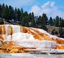 Mammoth Hot Springs - Yellowstone National Park, Wyoming by Kenneth Keifer