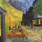 Van Gogh; Cafe Terrace at Night, Vintage Fine Art by nadil