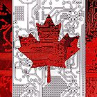 circuit board Canada (Flag) by sebmcnulty