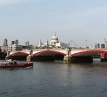 Waterloo Bridge, London, England by AnnDixon