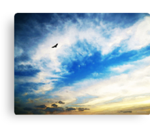Above The Clouds - American Bald Eagle Art Painting Canvas Print