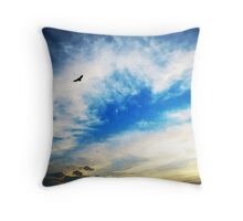 Above The Clouds - American Bald Eagle Art Painting Throw Pillow