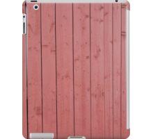 Old red blank wall iPad Case/Skin