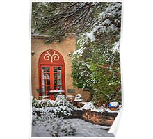 Southwest Cottage in the Snow Poster