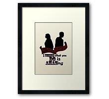 Working With You Framed Print