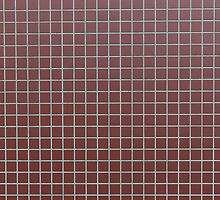 Square reddish tiles by Kristian Tuhkanen