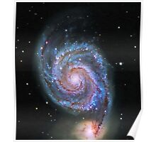 Space M51 Whirlpool Galaxy Poster
