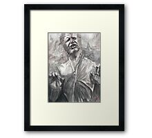 Han in Carbonite Framed Print