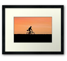 Patrolling The Levee Framed Print