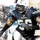 sports Shawne Merriman NFL by Adam Asar