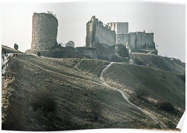 Castle Gaillard by Richard I Les Andelays 198402160029  by Fred Mitchell