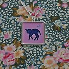 Little black sheep necklace by Trudi Hipworth