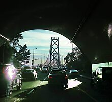 Rush Hour on the Bay Bridge by David Denny