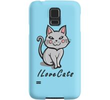I Love Cats Samsung Galaxy Case/Skin