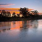 Fire in the sky- Murray River by Cameron B