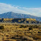 Waterpocket Fold with Henry Mountains, Utah by Claudio Del Luongo