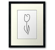 FRINGE White Tulip Framed Print