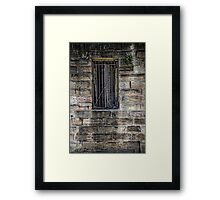What's Behind the Door Behind the Window? Framed Print