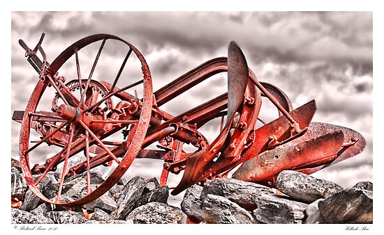 Hillside Plow by Richard Bean