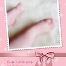 Baby Girl Congratulations, Cute Little Toes by NestToNest