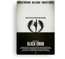 "Movie Poster - ""BLACK SWAN"" Canvas Print"