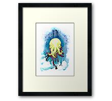 Cthulhu Waits Dreaming Framed Print