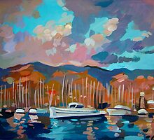 Santa Barbara Marina by painterflipper