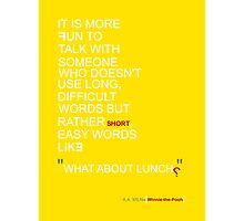 """""""What About Lunch?"""" Photographic Print"""