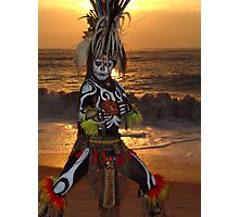 Aztec Worrior Dancing - Guerrero Azteca Bailando Photographic Print
