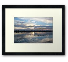 Mirror sea Framed Print
