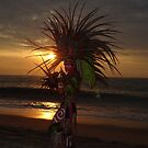 Aztec Worrior Dancing For The Sun - Guerrero Azteca Bailando Por El Sol by Bernhard Matejka