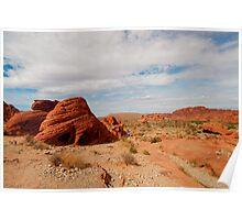 Red Rocks Landscape Poster