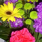 Colourful bunch of flowers. by artyfax