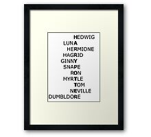 Harry Potter Was Never Alone Framed Print
