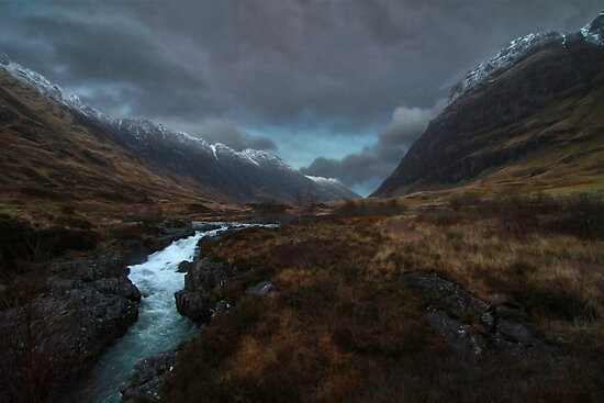 Glencoe Valley - Scotland by Julien Delebecque