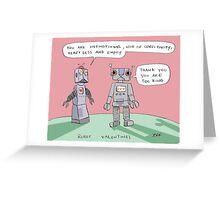 robotic valentine Greeting Card