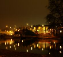 The River Medway at night  by larry flewers