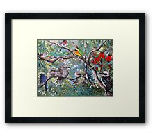 In The Treetops Framed Print